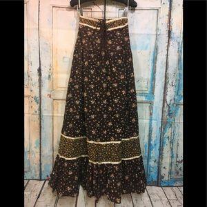 Vintage Jessica Gunne Sax Prairie Strapless Dress